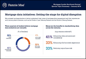Mortgage data initiatives: Setting the stage for digital disruption 1.24.18