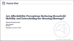 Special Topic Summary on Affordability Perceptions 6.27.18
