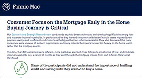 Consumer Focus on the Mortgage Early in the Home Buying Journey 5.24.18